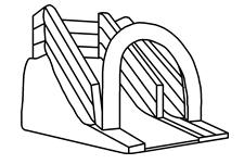 充氣式滑梯
